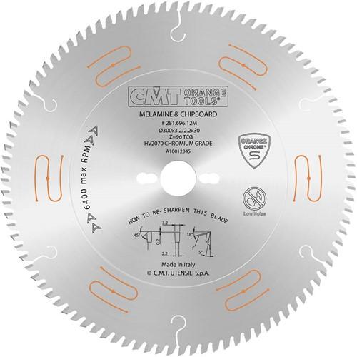 Geluidsarme zaag met chroom-coating