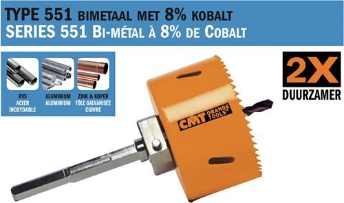 Gatzaag voor metaal en non-ferro metalen D=38mm