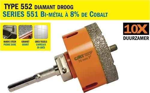 Gatzaag voor extreem harde materialen D=76mm