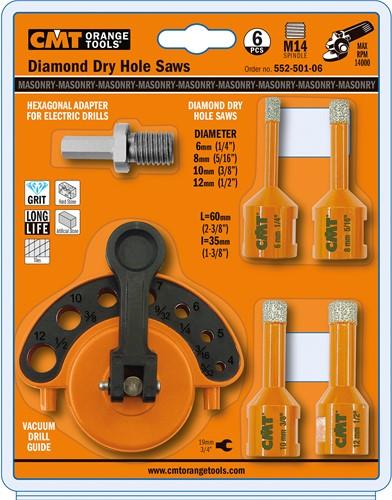 Gatzaag voor extreem harde materialen D=6,8,10 en 12 mm