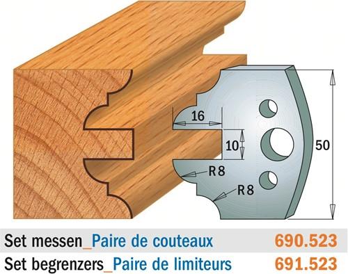 Couteaux profil pour porte-outil