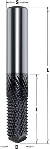 Fraise monobloc pour composite, fibre de verre et volkern, HWM