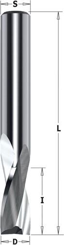 Spiraalfrees voor aluminium & PVC, HWM positive snijhoek