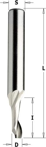 Groeffrees voor aluminium en kunststof in HS 5% co, positieve spiraal, rechts