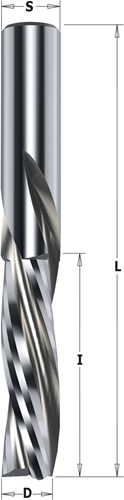 Spiraalfrees negatieve snijhoek in HWM
