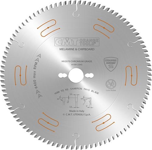 Geluidsarme zaag met chroom-coating (plaatmateriaal)