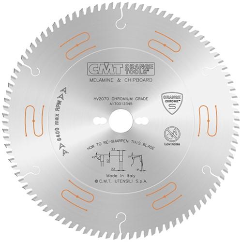 Platenzaag zonder voorrits-unit (geluidsarm + chroom-coating) Orange Chrome