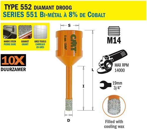 Gatzaag voor extreem harde materialen D=8mm