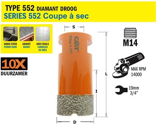 Gatzaag voor extreem harde materialen D=25mm