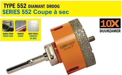 Scie cloche pour matériaux extrêmement durs D=55mm