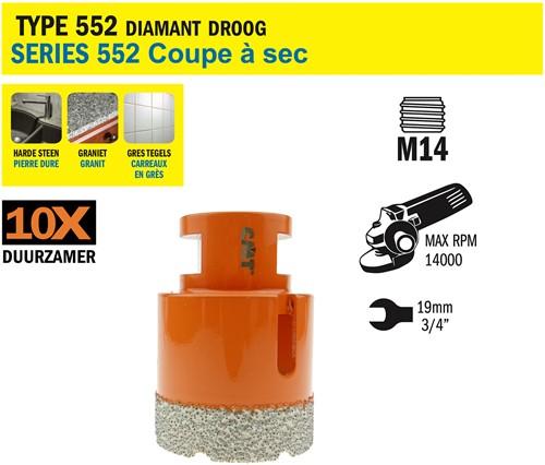 Gatzaag voor extreem harde materialen D=55mm