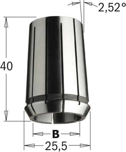 Precisie spantang ( Din 6388 EOC-16 )