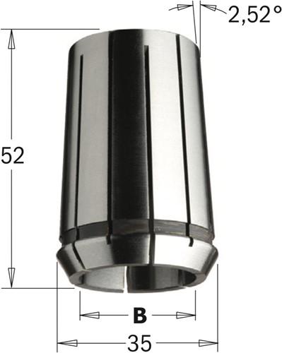 Precisie spantang ( Din 6388 EOC-25 )